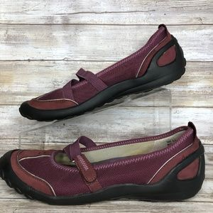 Privo Shoes - Clarks Privo Womens 8.5M Purple Mary Jane Loafers